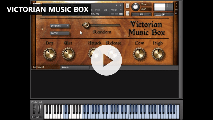 Victorian Music Box - FrozenPlain